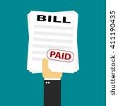 bill paid   Shutterstock .eps vector #411190435
