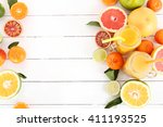 Various Citrus Fruits With A...
