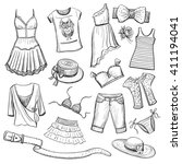 collection of vector graphics... | Shutterstock .eps vector #411194041