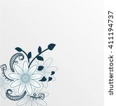 flower greeting card. a festive ... | Shutterstock .eps vector #411194737