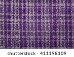 texture of purple tartan fabric ... | Shutterstock . vector #411198109