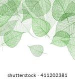 leaf green background. vector. | Shutterstock .eps vector #411202381