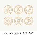 vector set of badges and labels ... | Shutterstock .eps vector #411211069