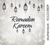 ramadan kareem arabic... | Shutterstock .eps vector #411215809