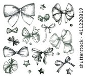 vector hand drawn collection of ... | Shutterstock .eps vector #411220819