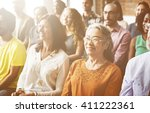 audience casual conference... | Shutterstock . vector #411222361