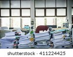 paper documents stacked in... | Shutterstock . vector #411224425