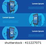 vector image of three blue... | Shutterstock .eps vector #411227071