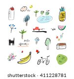hand drawn vector illustration... | Shutterstock .eps vector #411228781