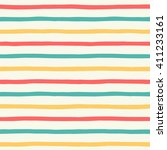 hand drawn colorful stripes... | Shutterstock . vector #411233161