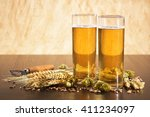 special german cologne beer...   Shutterstock . vector #411234097