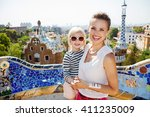 barcelona will show you how to... | Shutterstock . vector #411235009
