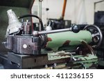 part of the lathe | Shutterstock . vector #411236155