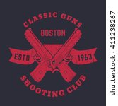 classic guns emblem  logo with... | Shutterstock .eps vector #411238267