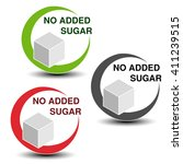 vector no added sugar symbols... | Shutterstock .eps vector #411239515
