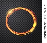 abstract light gold circle... | Shutterstock .eps vector #411242119