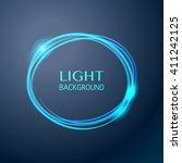 abstract light blue circle... | Shutterstock .eps vector #411242125
