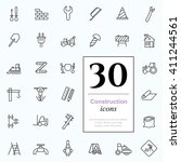 set of construction icons for... | Shutterstock .eps vector #411244561