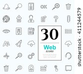 set of web icons for internet... | Shutterstock .eps vector #411244579
