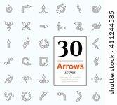 set of arrow icons for website... | Shutterstock .eps vector #411244585