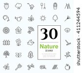 set of nature icons for web or... | Shutterstock .eps vector #411244594