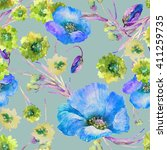beautiful floral seamless... | Shutterstock . vector #411259735