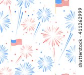 fireworks and stars in american ... | Shutterstock .eps vector #411262999