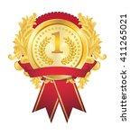 gold badge | Shutterstock .eps vector #411265021