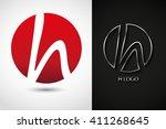 letter h logo.logo h vector...   Shutterstock .eps vector #411268645