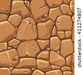 stone texture in brown colors... | Shutterstock .eps vector #411274807