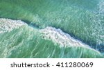 Aerial View Of Surfer On Huge...