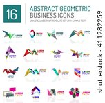 abstract geometric business... | Shutterstock .eps vector #411282259