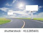 blank billboard for your... | Shutterstock . vector #411285601