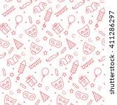 carnival seamless pattern in... | Shutterstock . vector #411286297