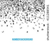 abstract math number background.... | Shutterstock .eps vector #411288541