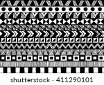 black and white horizontal... | Shutterstock .eps vector #411290101