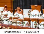 romanian traditional decorated... | Shutterstock . vector #411290875