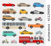 urban  city cars and vehicles... | Shutterstock .eps vector #411290905