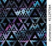 Galaxy Seamless Pattern With...