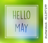 hello may illustration with... | Shutterstock .eps vector #411297199