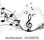 musical note stuff  background... | Shutterstock . vector #41130376