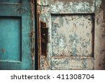 The Texture Of Old Door  Which...