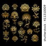 vector illustration of golden... | Shutterstock .eps vector #411310009