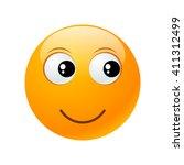 happy yellow round emoticon... | Shutterstock .eps vector #411312499