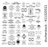set of elegant calligraphic... | Shutterstock .eps vector #411320521