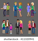 detailed character people... | Shutterstock .eps vector #411320941