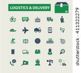 logistics   delivery icons    Shutterstock .eps vector #411322279