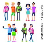 vector detailed character flat... | Shutterstock .eps vector #411322441