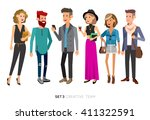 creative team people. teamwork  ... | Shutterstock .eps vector #411322591
