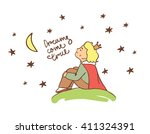 little prince. beautiful... | Shutterstock .eps vector #411324391